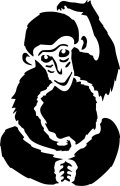 ステンシルシート 猿