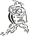 ステンシルシート 鳥獣人物戯画 兎と蛙