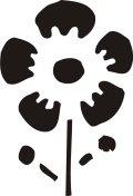 ステンシルシート 花ー13