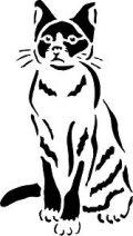 ステンシルシート 猫 -3