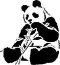 ステンシルシート パンダ
