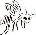 ステンシルシート 蜂 ハチ