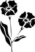 ステンシルシート 花-11