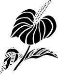 ステンシルシート 花-12