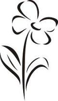 ステンシルシート 花ー2
