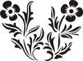 ステンシルシート 花ー8