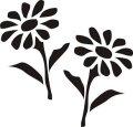 ステンシルシート 花ー9