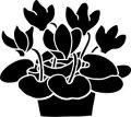 ステンシルシート 鉢花