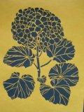型紙 花鳥図 紫陽花