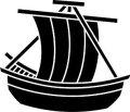 ステンシルシート 帆掛船