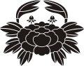 ステンシルシート 蟹牡丹