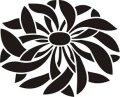 ステンシルシート 乱菊