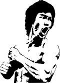 ステンシルシート ブルース・リー Bruce Lee