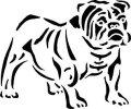 ステンシルシート 犬ー4