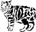 ステンシルシート 猫 -2