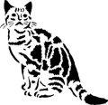 ステンシルシート 猫 -5