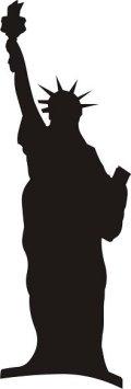 ステンシルシート 自由の女神像