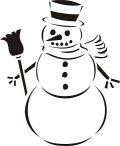 ステンシルシート 雪だるま