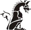 ステンシルシート 門番のドラゴン