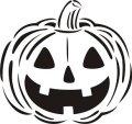 ステンシルシート ハロウィン かぼちゃ