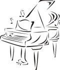 ステンシルシート ピアノ