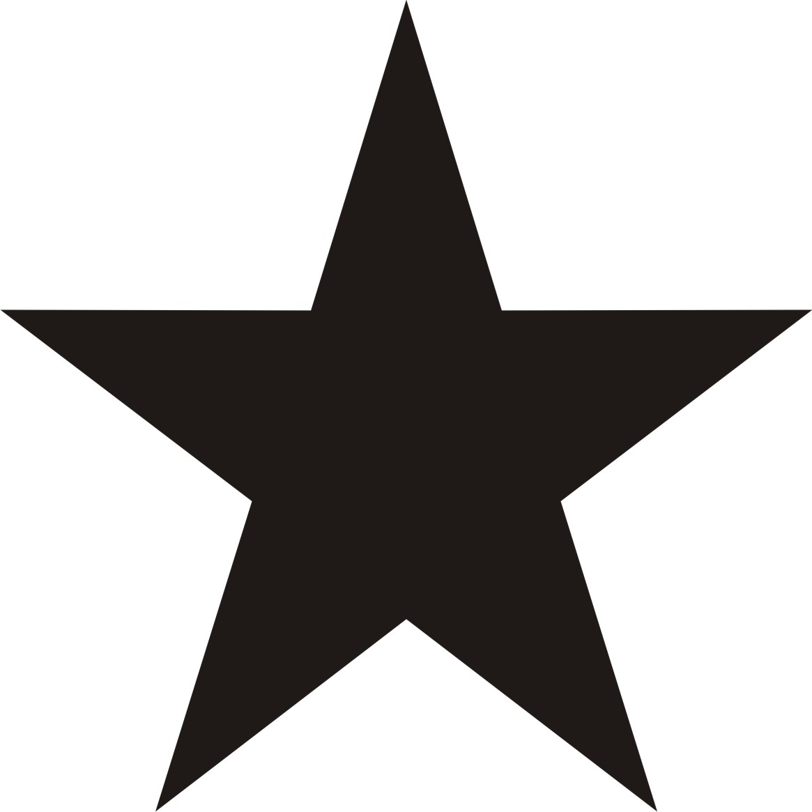 5 Point Star Clip Art Black and White